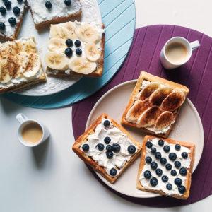 Home Made Waffles with Coffee