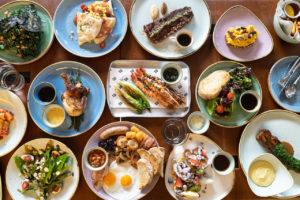 Sharing Food at Chim Chim Restaurant